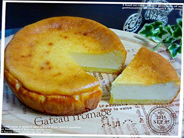 Rizmu's dish photo ガトーフロマージュ   http://snapdish.co #SnapDish #レシピ #おやつ #ケーキ #チーズ