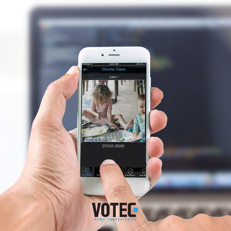 Votec Akıllı Ev Sistemleri ile çocuklarınız güvence altında.