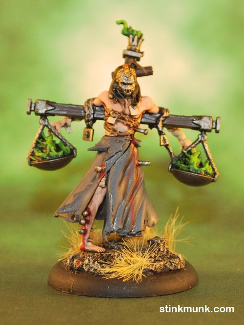 Scales Of Justice M2E Model By Wyrd Miniatures Painted Stinkmunk September