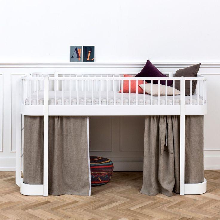 Oliver Furniture Wood Loftsäng Vit Låg 90x200 - Oliver Furniture - Varumärken