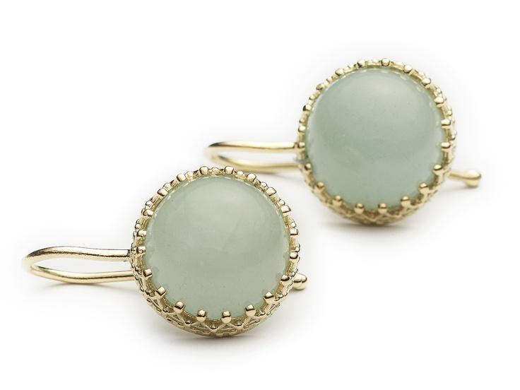 Gold 14 carat and aquamarine