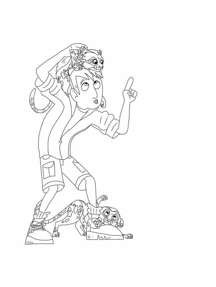 wild kratts coloring page cheetah cubs - Wild Kratts Coloring Book