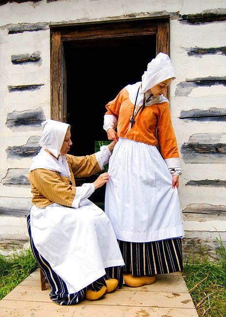 Canada. New Brunswick. Acadia. Caraquet. Village Acadien (Acadian Village). Reliving the past.