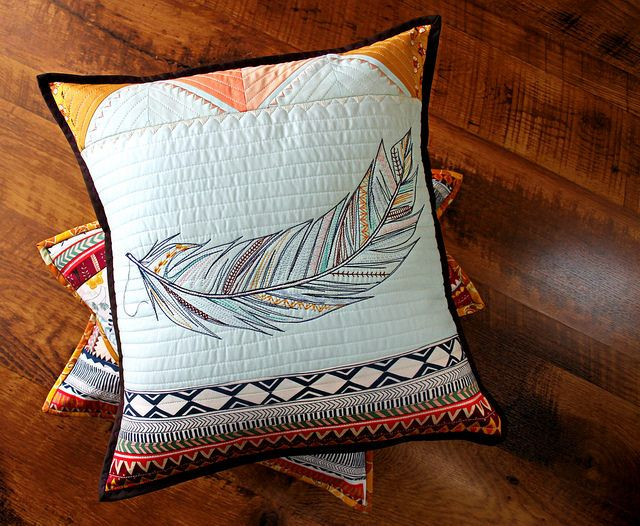 Wild and Free feather pillow