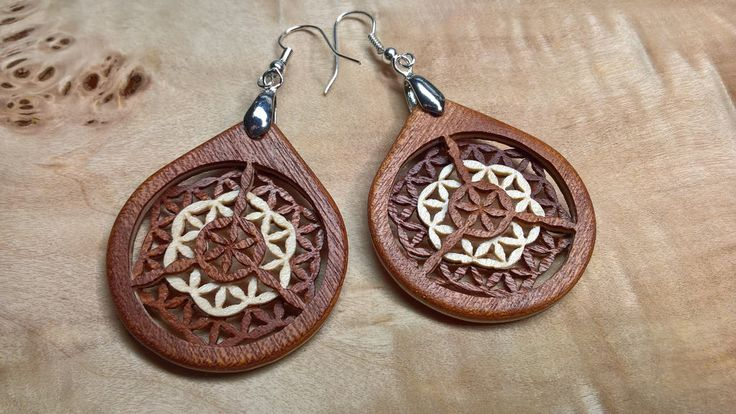 "3D Layered Veneer Earrings Venearrings"" - Flower of Life: Origin"