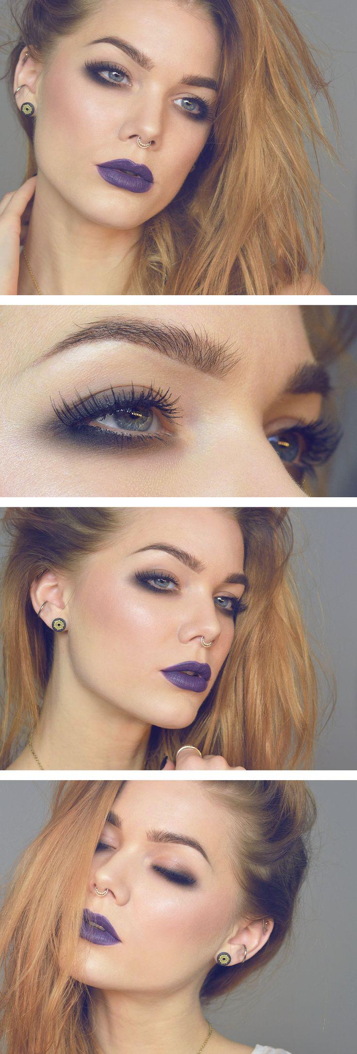 smokey eyes (smudged liner) + purple look | makeup @ linda hallberg
