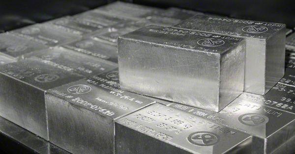 Stacked Platinum Bullion Bars