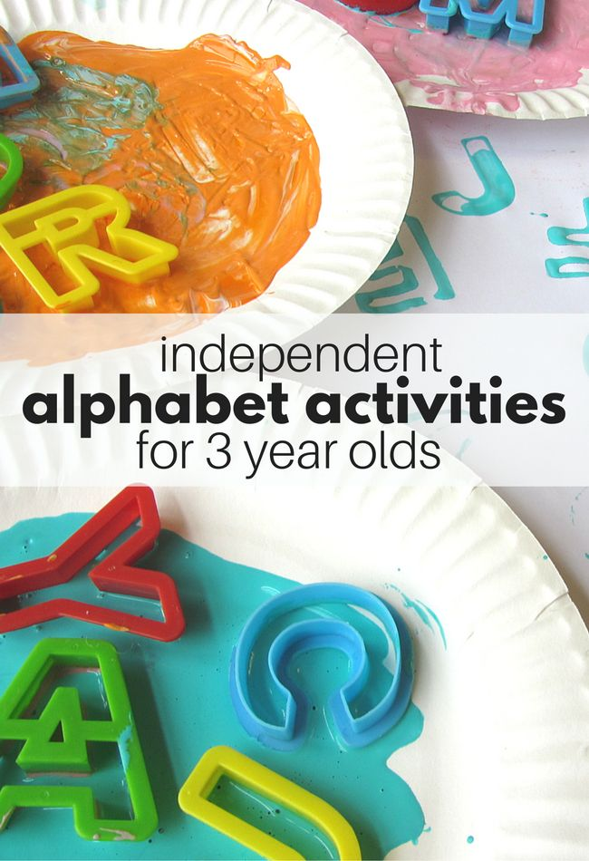 Learn letters through play with these independent alphabet activities for 3 year olds. Perfect for free choice time at preschool.