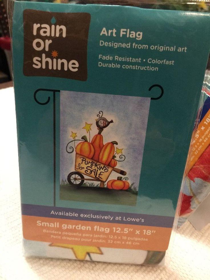 Small garden flag Pumpkins For Sale RAIN OR SHINE flip it flag Yard Decoration #RainorShine