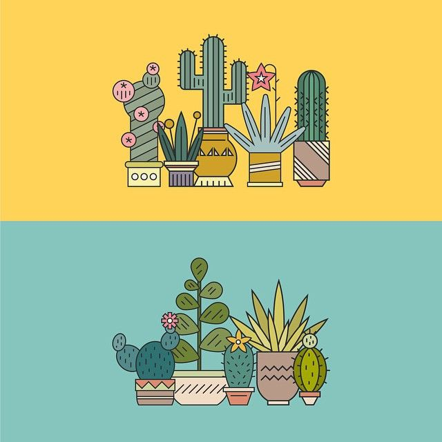 Summer is finally coming || Наконец-то наступает лето #illustration #graphicdesign #plant #cactus #summer #drawing #иллюстрация #рисунок #кактус #цветы #лето