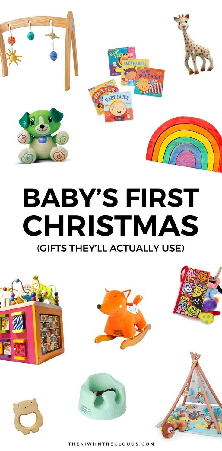 Don't struggle with finding the perfect present for your new little baby. Find the best baby's first Christmas gift ideas that will actually be played with.