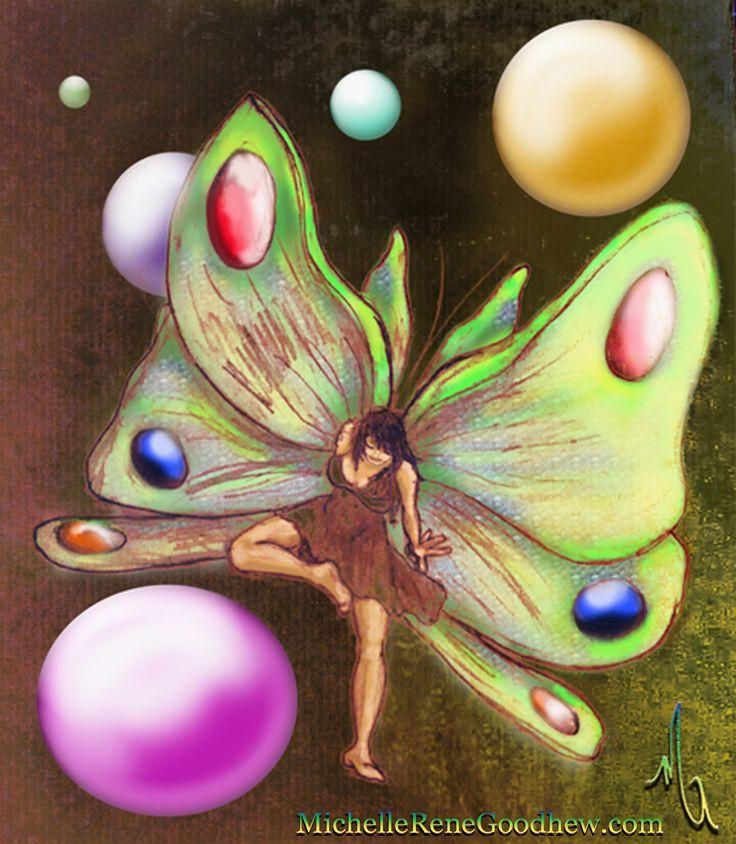 Entry 43 'Fandri-La' digital painting by Michelle Rene Goodhew #fairy #art