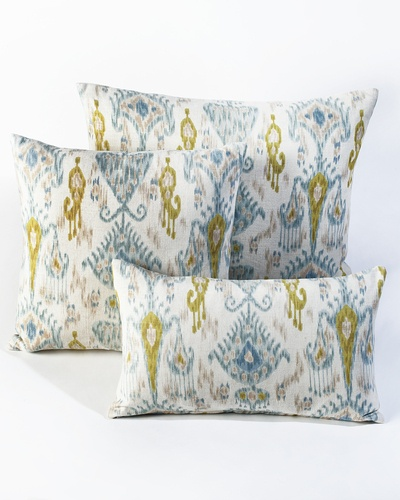 The Beachfront Ikat Pillow by HomeMint.com, $39.99