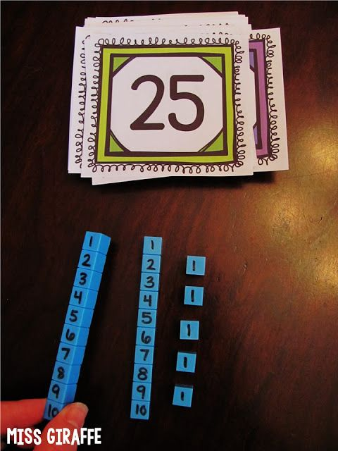"Write on place value blocks so kids can see what ""tens"" and ""ones"" actually mean... so many great math ideas on this post"