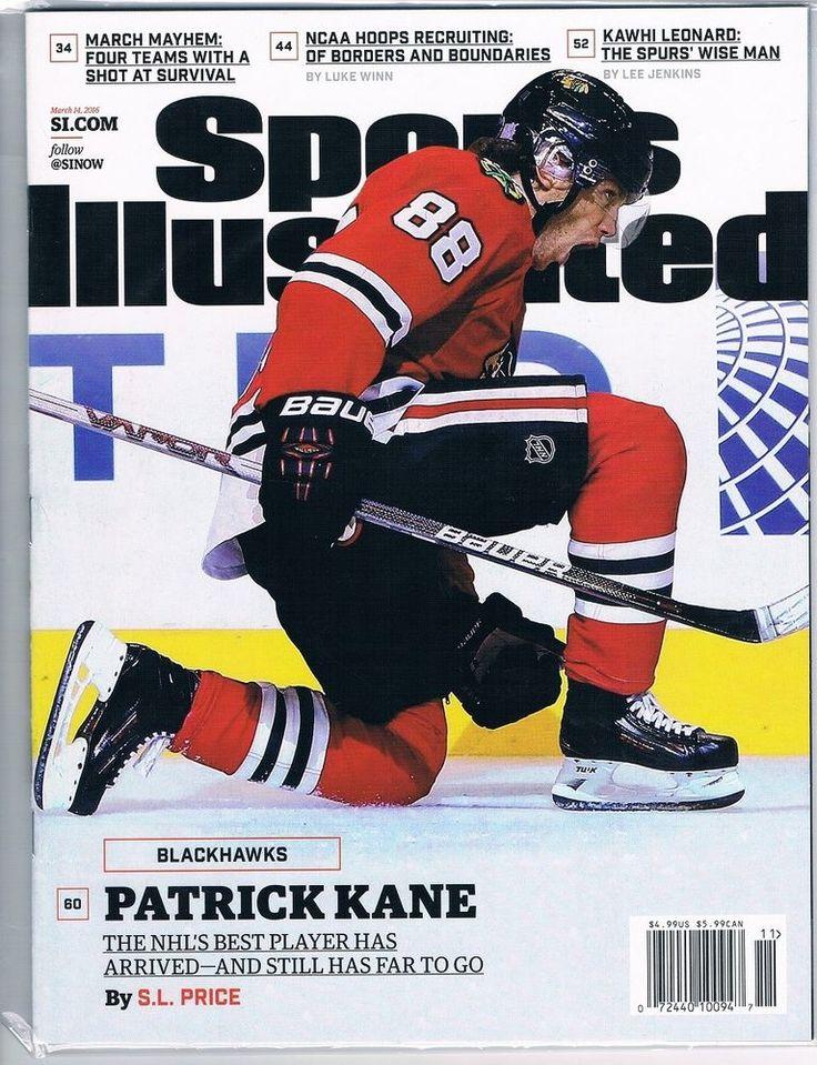 3/14/16 Sports Illustrated PATRICK KANE Chicago Blackhawks NO MAILING LABEL 2016 #ChicagoBlackhawks