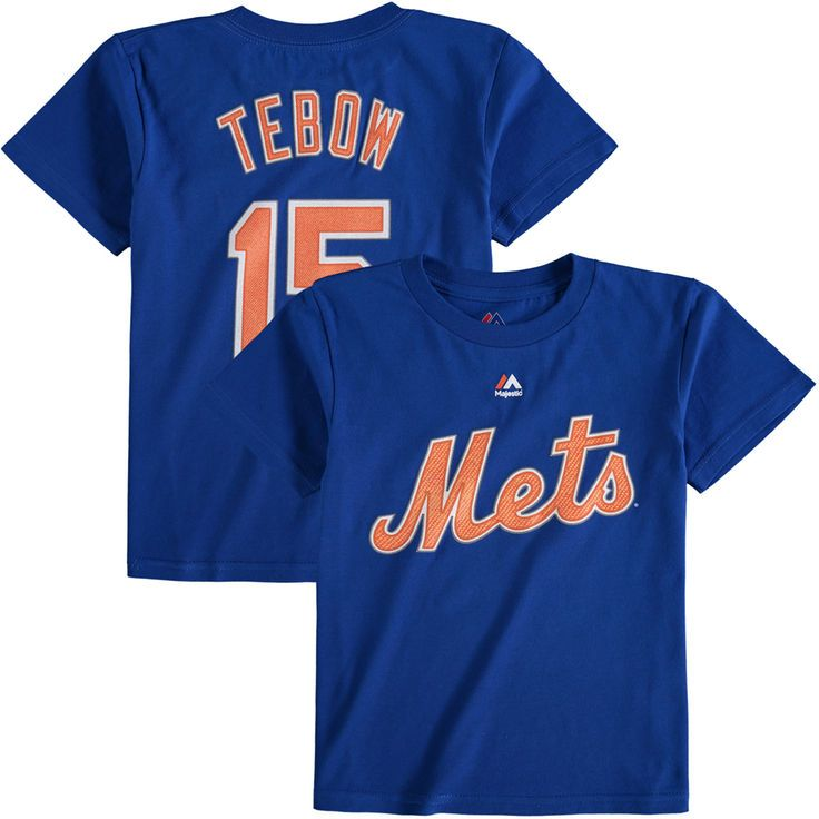 Tim Tebow New York Mets Majestic Toddler Player Name and Number T-Shirt - Royal - $19.99