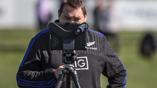 All Blacks coach Steve Hansen, pictured at training in Christchurch on Thursday…