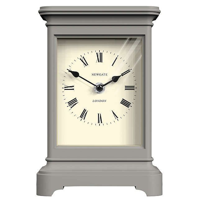 BuyNewgate Library Mantel Clock, Grey Online at johnlewis.com