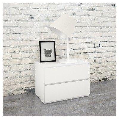 District 5 Piece Queen Size Bedroom Set - Nexera, White