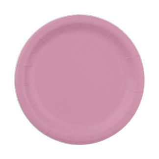 Custom Pink Paper Plates 7 Inch Paper Plate