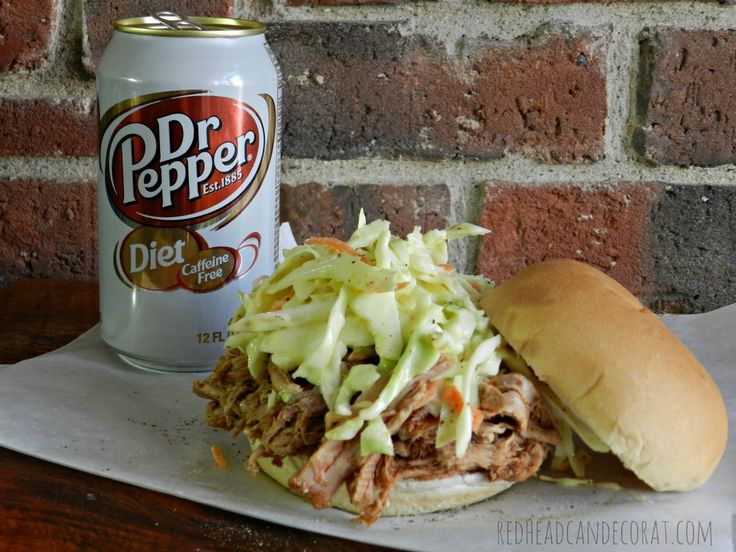 Diet Dr. Pepper Shredded Pork    Redhead Can DecorateRedhead Can Decorate