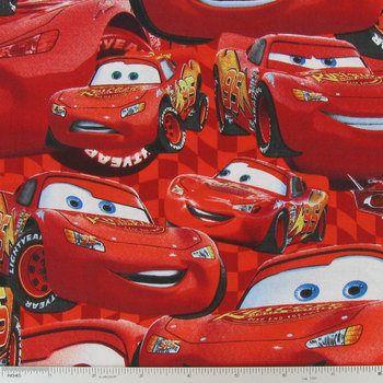Disney Cars Lightning McQueen fabric