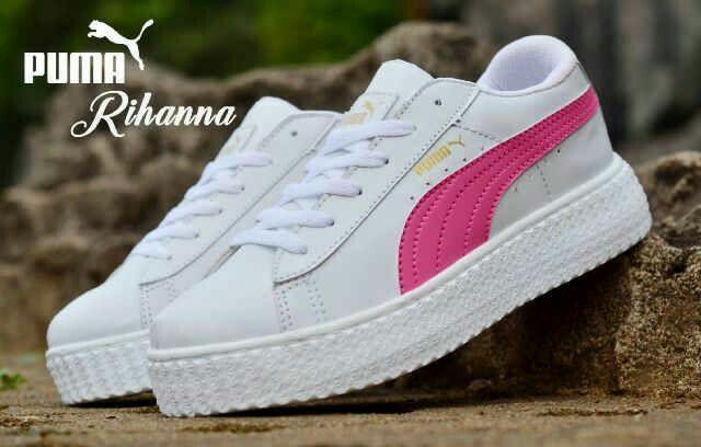 Kets Puma Rihanna List Pink Sepatu Pria Sepatu Anak Sepatu