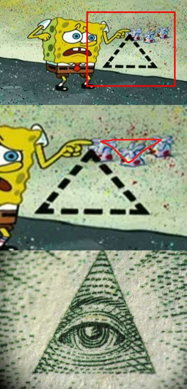 LET THE TRUTH BE REVEALED IN THIS EPISODE OF SPONGEBOB: | 28 Pictures That Prove The Illuminati Is Very, Very Real