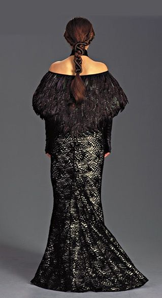 Star Wars Padme Amidala Dinner Dress With Feather Caplet - Back view