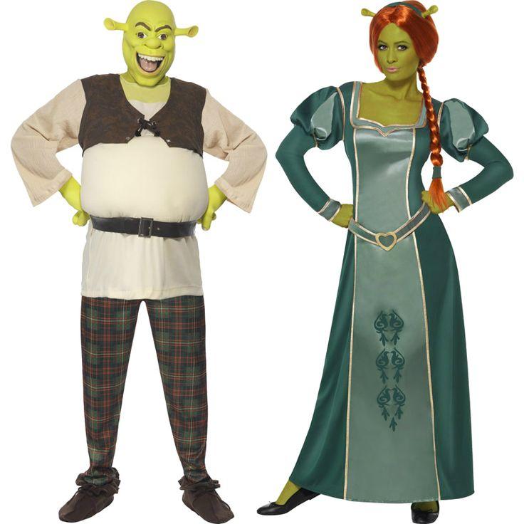 Pareja shrek oficial parejas disfraces carnaval for Disfraces parejas adultos