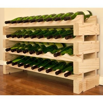 Modularack Wooden Wine Rack 36 Bottle - Natural Pine, Wine Racks; UK Wine Rack Suppliers | Wineware Racks & Accessories