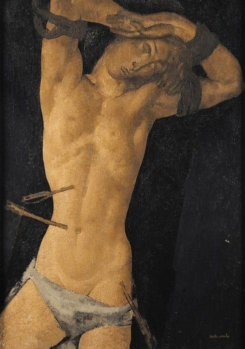 """ Saint Sébastien(1934 version) "" by Anto Carte (1886-1954)"