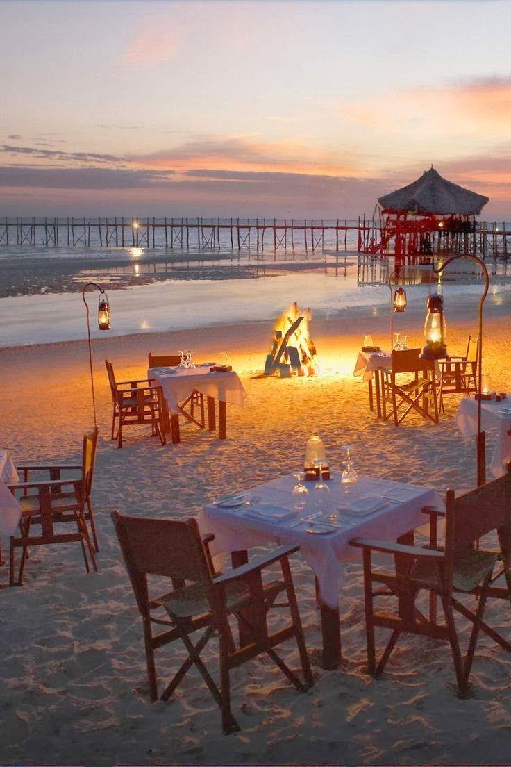 Romantic Beach Dinner Fundu Lagoon, Pemba Island, Zanzibar, Tanzania