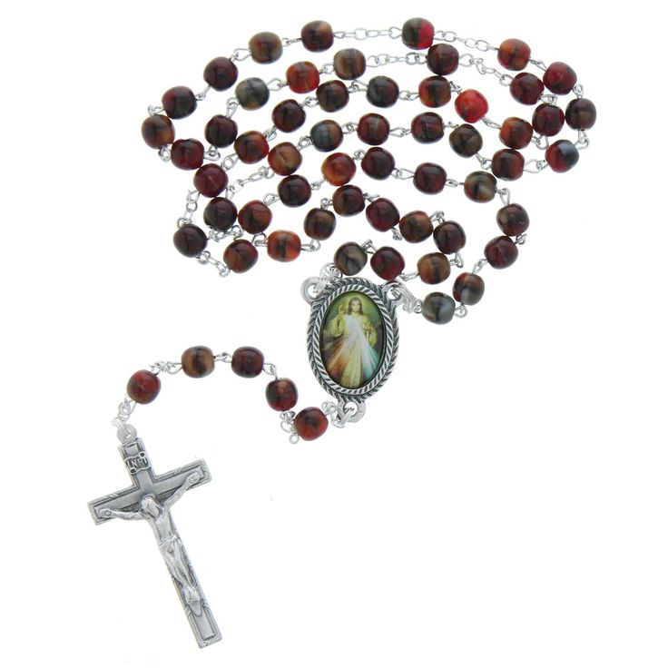 "Divine Mercy Rosary, $18.95. Customer review: ""A joy to use at Adoration or daily Chaplet. I previously gave a Divine Mercy rosary to an adult completing RCIA at Easter. I loved it so much, I ordered one for myself."""