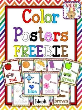 This set includes 10 color posters (red, orange, yellow, green, blue, purple, black, brown, white, & pink) with example pictures. I hope you enjoy this FREEBIE!N