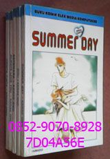 0852-9070-8928, Buku Komik, Beli Komik Murah, 7D04A56E, Buku Komik Murah. KOMIK SERIAL CANTIK SUMMER DAY, by Kanae Ono. Pada liburan musim panas Yuiko dan sahabatnya berjalan-jalan ke pantai. Tiba-tiba seseorang menabrak dirinya, ternyata orang itu, Hirasawa, temannya sewaktu di sekolah dasar. Ternyata Hirasawa tidak sendiri, tapi bersama temannya, Natsuo. Mereka pun saling berkenalan, dan Yuiko begitu terkesan pada Natsuo suka menantang maut. Mungkinkah Yuiko akan jatuh cinta pada Natsuo?