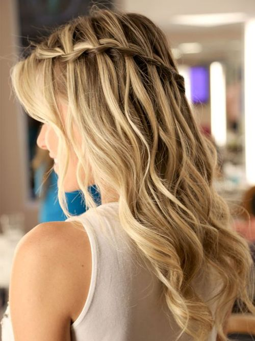 New Waterfall Braided Prom Hairstyles 2017 – 2018