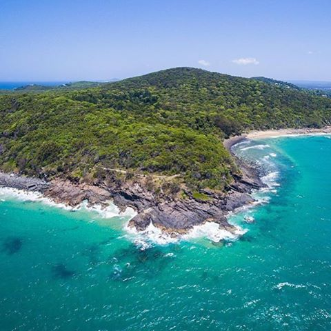 This is Dolphin Point in Noosa National Park. It's accessible by walking trail-keep an eye out for koalas and dolphins of course! #thisisqueensland by @matjoez