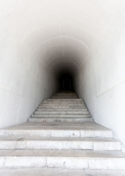 #Whitemarble #staircase leading to dark #tunnel #dark #creepy #scary #haunted #hauntedhouse #halloween #adventure #horror #creative #photography #night #fear