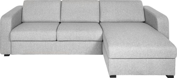 Petit canapé-lit en tissu avec angle réversible et rangement