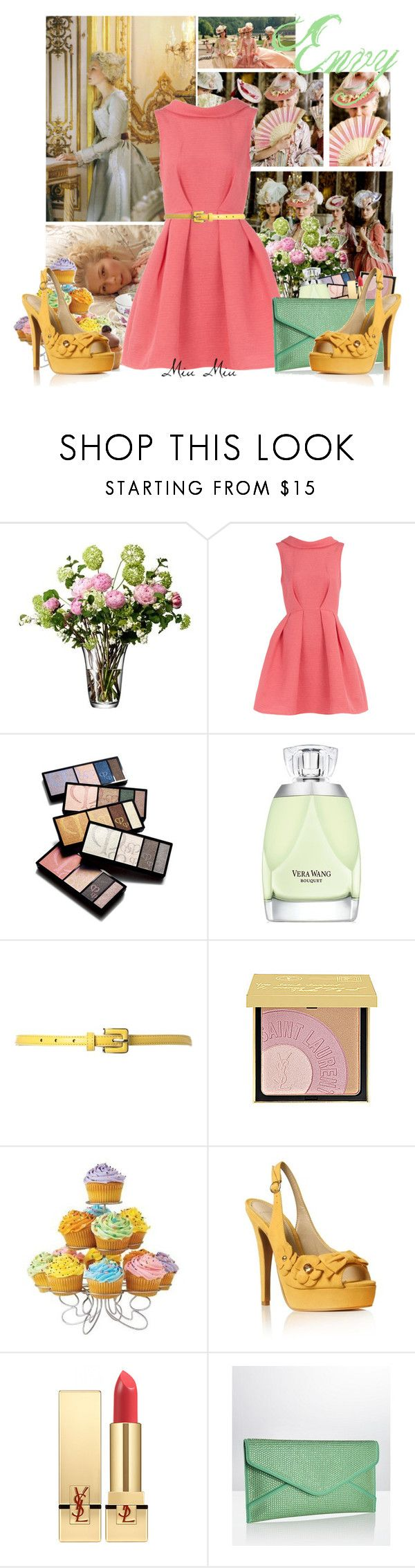 """""""The 7 deadly sins: Envy"""" by miumiu ❤ liked on Polyvore featuring Dorothy Perkins, Clé de Peau Beauté, Vera Wang, Therapy, Yves Saint Laurent, Wilton, Carvela, Ted Baker, platform heels and seven deadly sins"""
