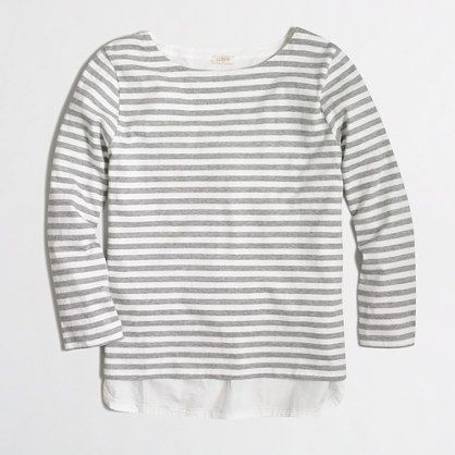 J.Crew Factory - Factory woven-back top in stripe