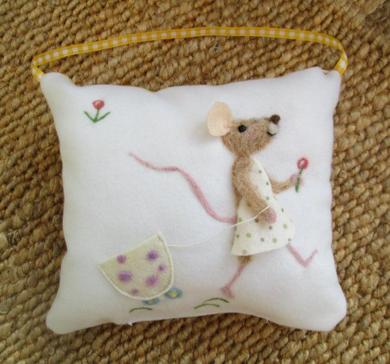 Tooth fairy personalized tooth fairy pillow. by TuscanLiberty