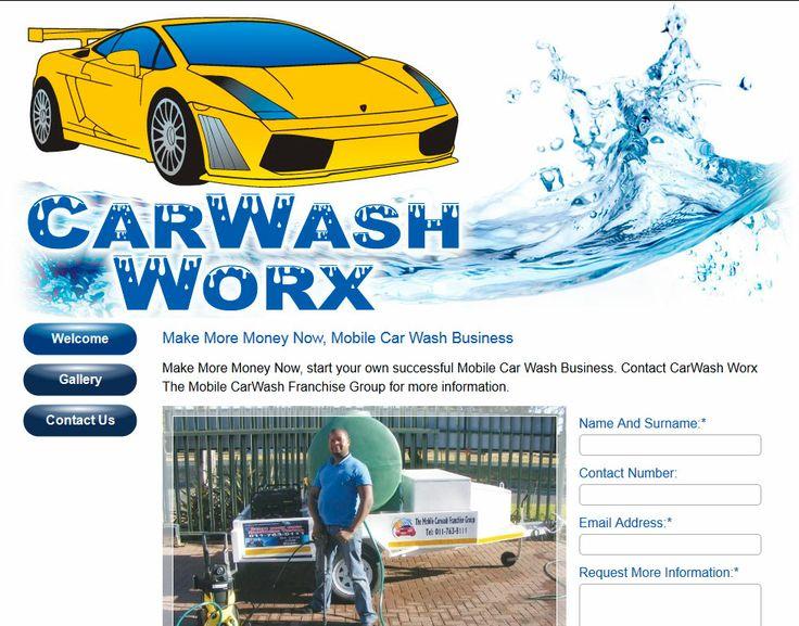CarWash Worx Website Design By DRAGAN GRAFIX, CarWash Worx, Make More Money Now, start your own successful Mobile Car Wash Business. Contact CarWash Worx The Mobile CarWash Franchise Group for more information. Visit http://www.carwashworx.co.za