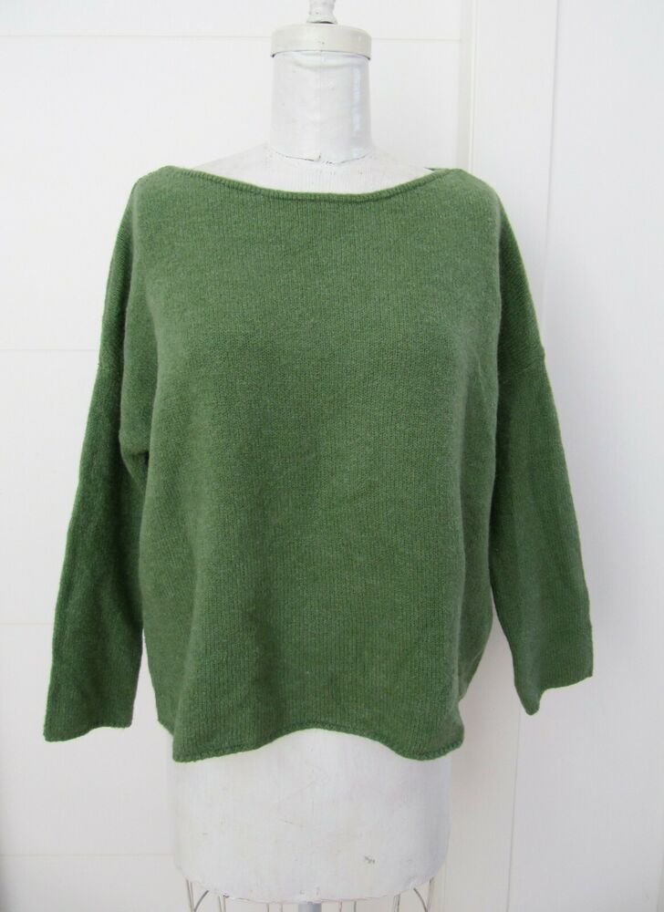fca9fbee NWT!! ZARA Knit Women's 100% Green Knit Top Sweater, Long Sleeves ...