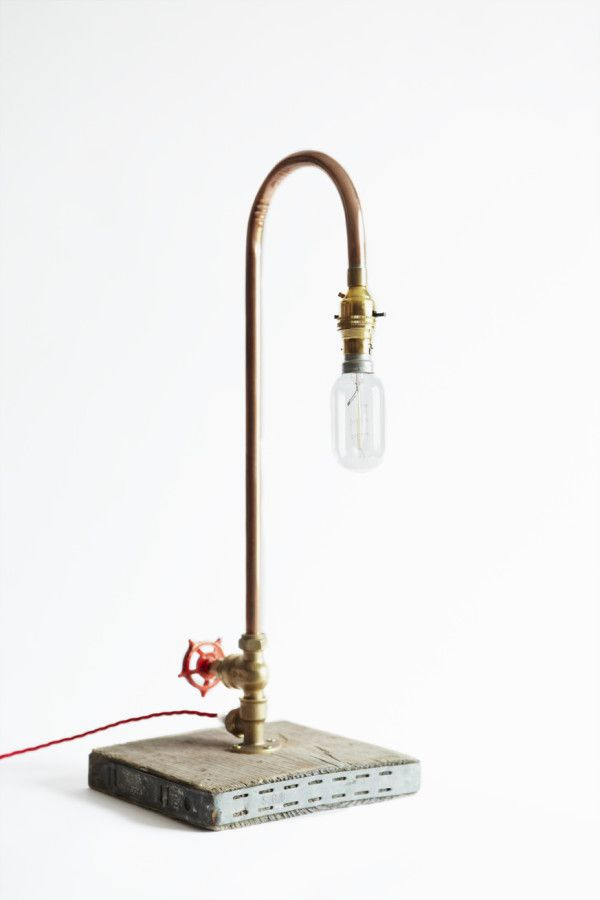 Fabulous tap design handmade by Original Lighting from copper pipe fittings exclusively for https://www.sarahmoorehome.co.uk/‎
