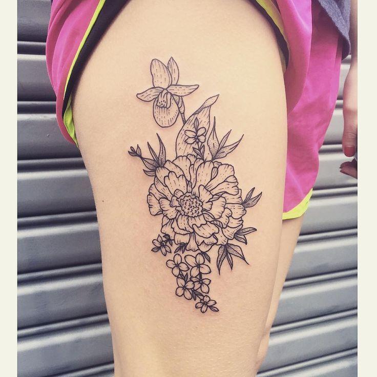 ... Tattoos on Pinterest | Elephant Tattoos Marigold Tattoo and Elephants