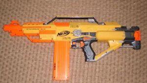 Nerf Stampede ECS N Strike Automatic Blaster Machine Gun | eBay