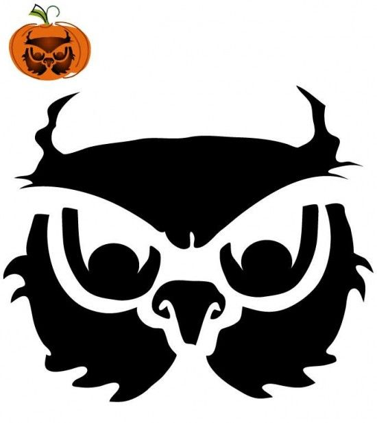 Owl stencil template for your pumpkins decorating ideas