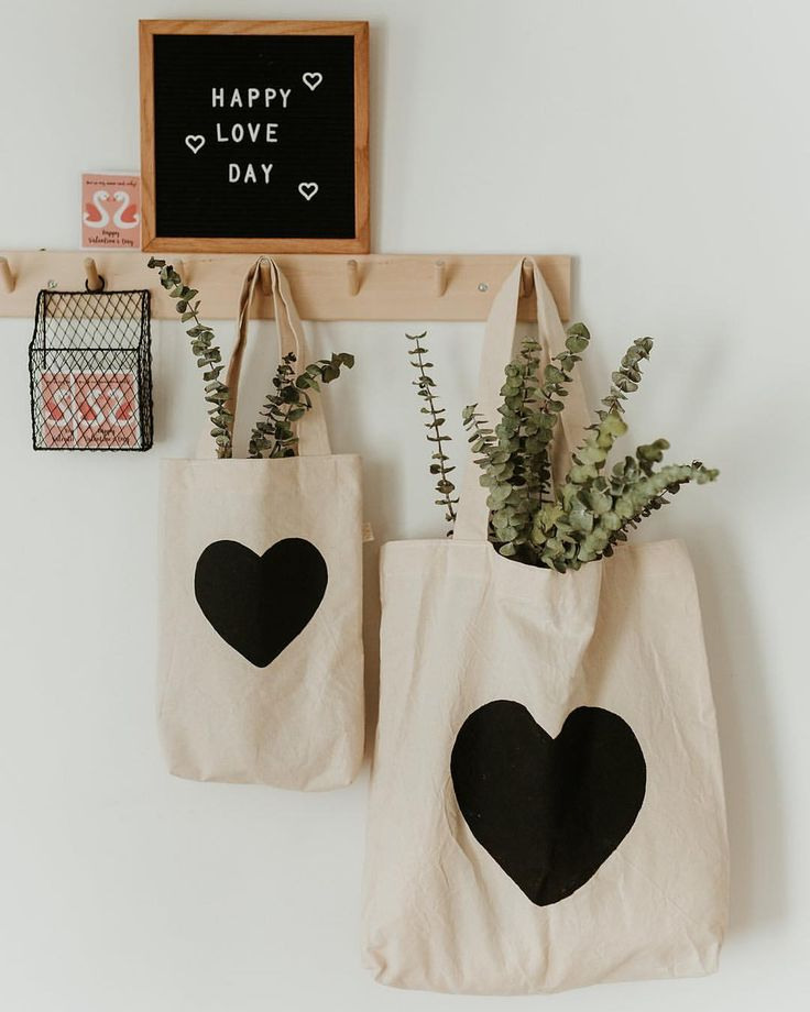 Heart Tote Bags | Handmade | Handpainted | minimal | Natural | Sustainable | Eco Friendly | made by Kate + Norah Co.
